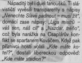 Deník Sport 06. 12. 2004